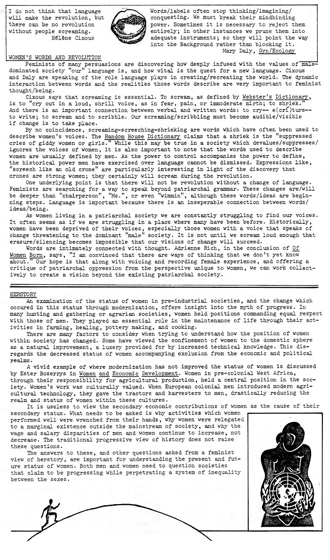 CS62 Page 3 - To The Root: Feminist Issue