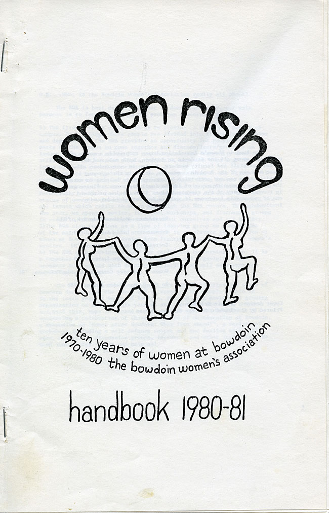 CS63 Page 1 - Bowdoin Women's Association Handbook