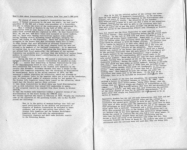 CS63 Page 3 - Bowdoin Women's Association Handbook