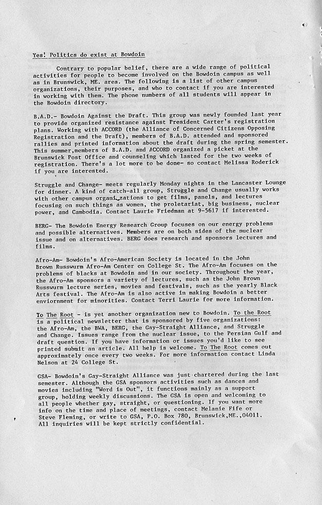 CS63 Page 6 - Bowdoin Women's Association Handbook