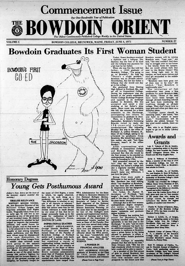 EN21- Bowdoin Graduates Its First Woman Student
