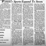 JH57 - Orient Article: Women's Sports Expand to Seven