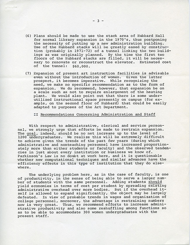 SW32 - Page 3 - Memorandum to President Howell