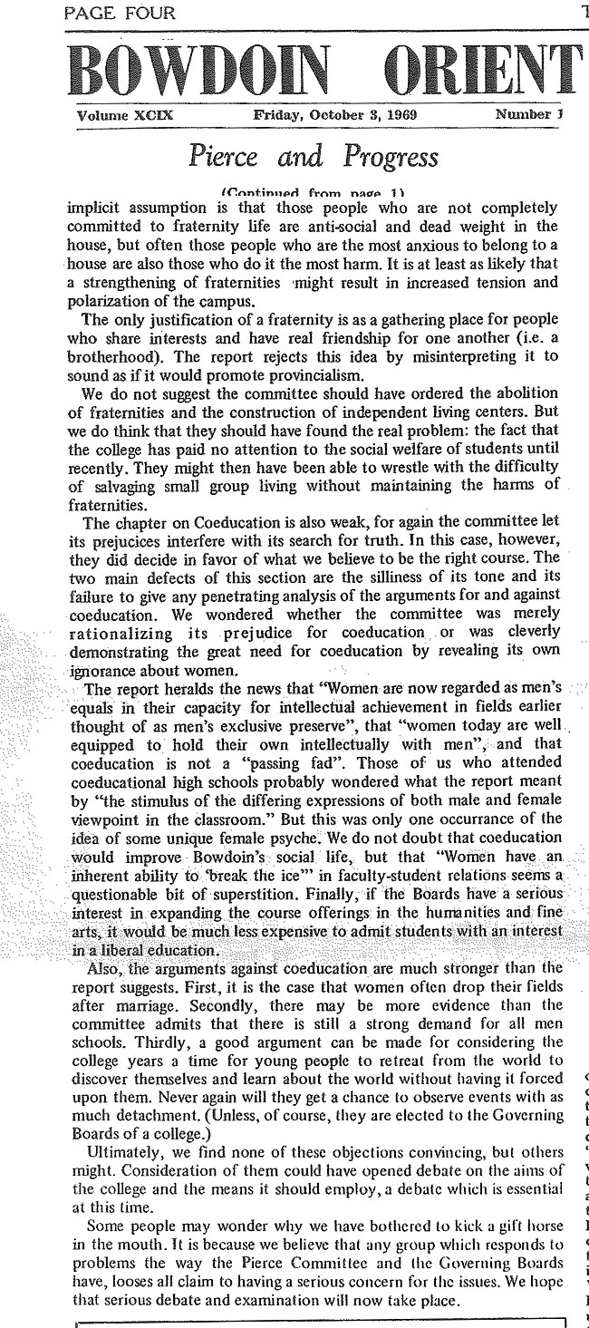 Pierce and Progress; Orient Article on the Pierce Report -sb-11-page-2