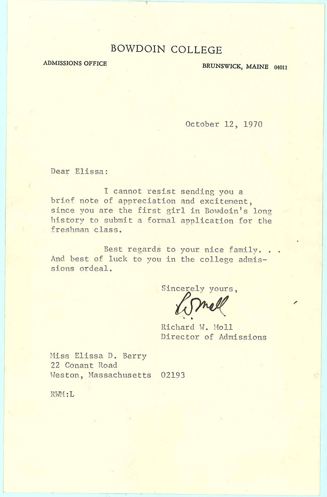 Letter from Richard Moll to Liddy Berry -sb-17
