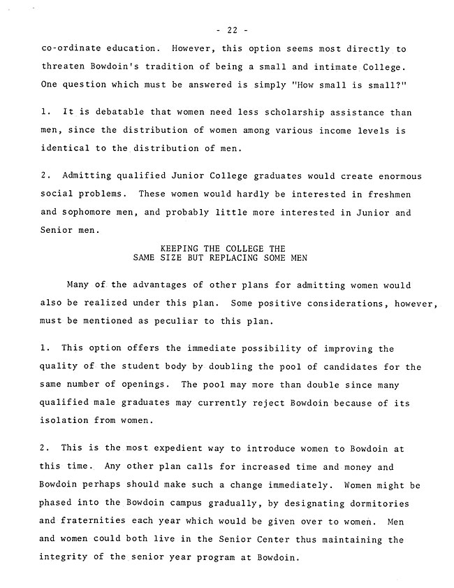The Annual Report of the Student Life Committee 1968 (excerpt: coordinate colleges) - sb-8-page-10
