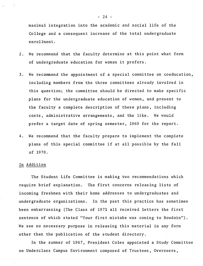 The Annual Report of the Student Life Committee 1968 (excerpt: coordinate colleges) - sb-8-page-12