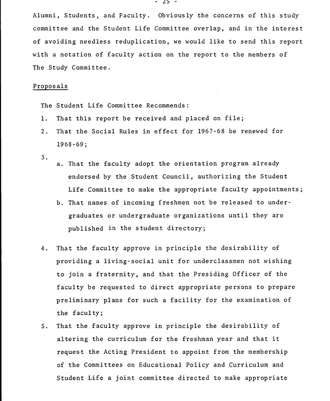 The Annual Report of the Student Life Committee 1968 (excerpt: coordinate colleges) - sb-8-page-13