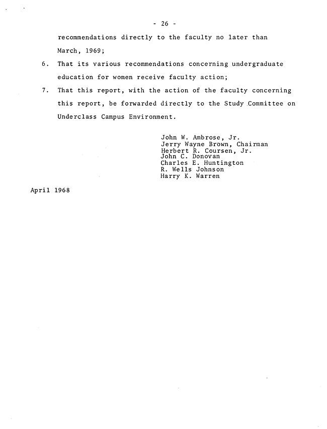 The Annual Report of the Student Life Committee 1968 (excerpt: coordinate colleges) - sb-8-page-14