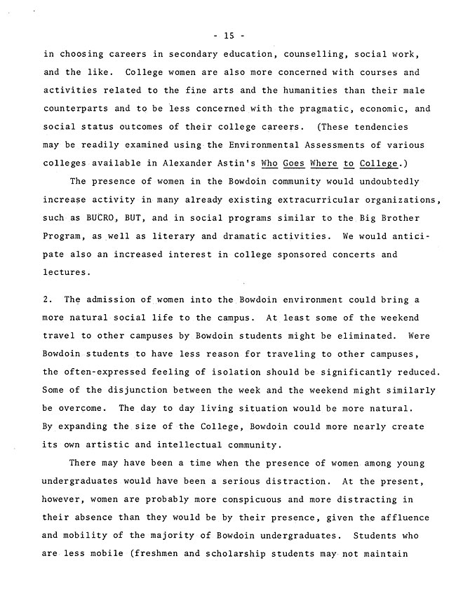 The Annual Report of the Student Life Committee 1968 (excerpt: coordinate colleges) - sb-8-page-3