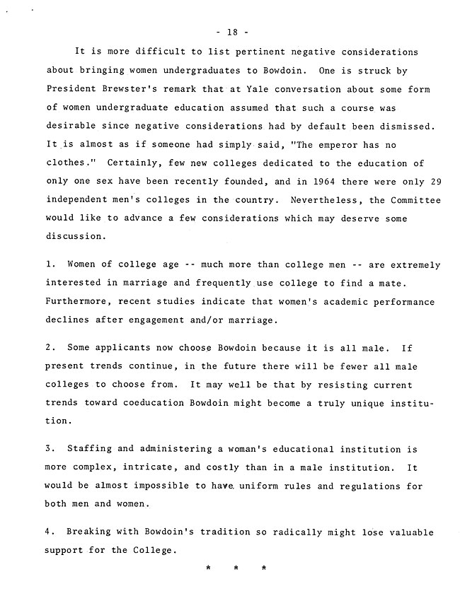 The Annual Report of the Student Life Committee 1968 (excerpt: coordinate colleges) - sb-8-page-6