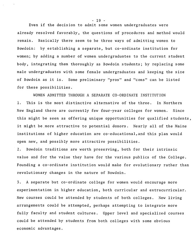 The Annual Report of the Student Life Committee 1968 (excerpt: coordinate colleges) - sb-8-page-7