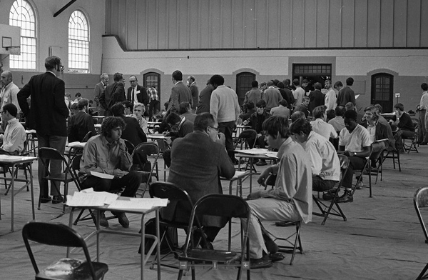 freshmen registering for the 1970-71 academic year, Bill Eccleston's first year on campus
