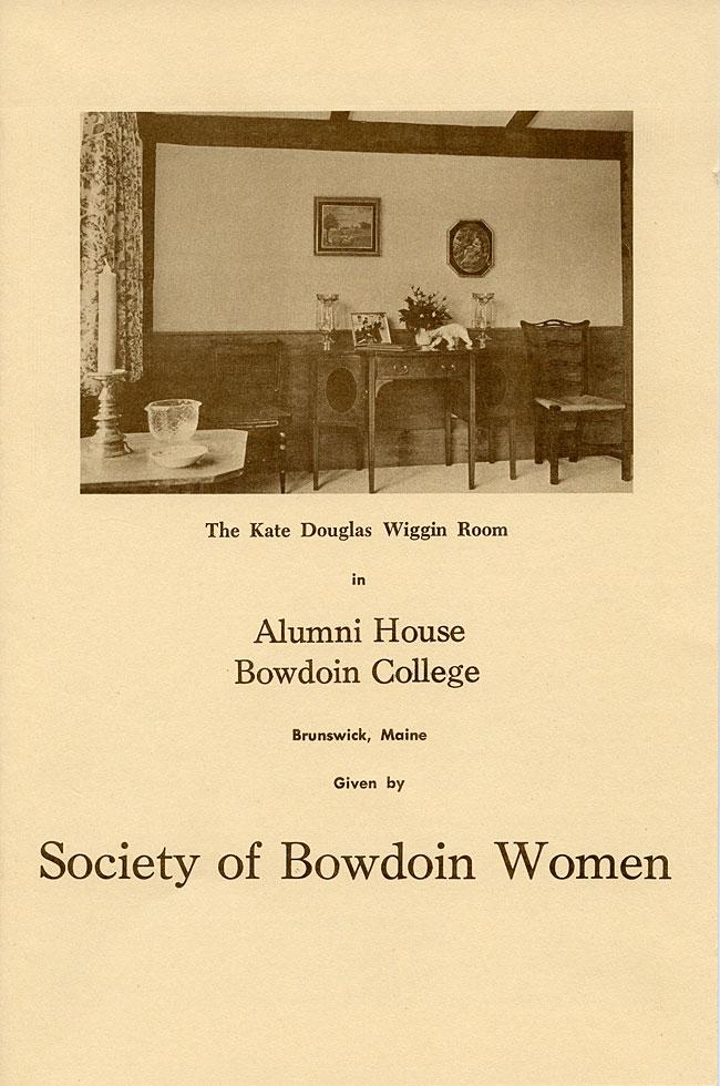 Society of Bowdoin Women: Kate Douglas Wiggin Room in 1968 - sc-5
