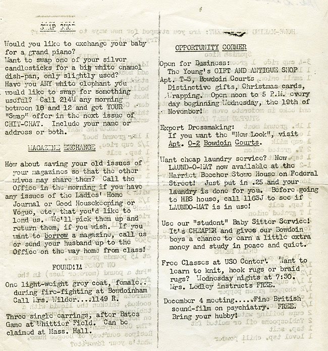 """Bowdoin Wives Association """"Chit-Chat""""  SC 6 - page 3"""