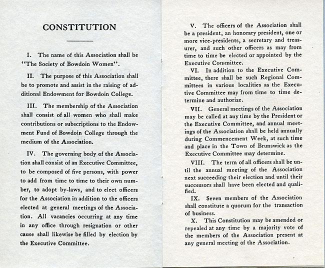 Society of Bowdoin Women Constitution - sc4-1.1