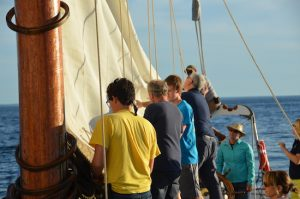 maine maritime academy students on schooner bowdoin