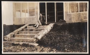 Marie Peary Stafford at family home in Eagle Island.