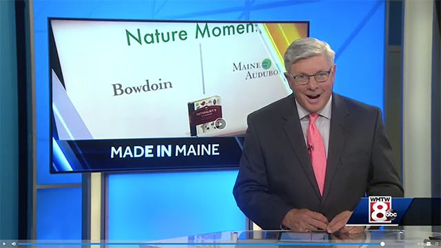 "The yearlong Nature Moments video series was recently featured on local ABC affiliate WMTW's ""Made in Maine"" series, hosted by Steve Minich."