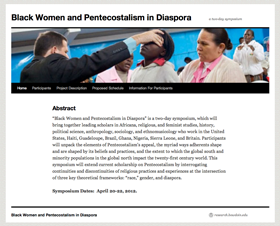 Black Women and Pentecostalism in Diaspora: a two-day symposium