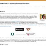 Mary Rothbart's Temperament Questionnaires