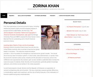 Professor Zorina Khan